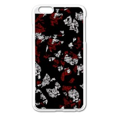 Red, White And Black Abstract Art Apple Iphone 6 Plus/6s Plus Enamel White Case by Valentinaart