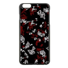 Red, White And Black Abstract Art Apple Iphone 6 Plus/6s Plus Black Enamel Case by Valentinaart
