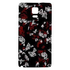 Red, White And Black Abstract Art Galaxy Note 4 Back Case by Valentinaart