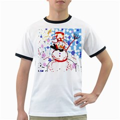 Snowman Ringer T Shirts by Valentinaart