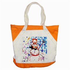 Snowman Accent Tote Bag by Valentinaart
