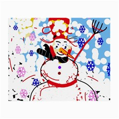 Snowman Small Glasses Cloth (2 Side) by Valentinaart