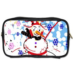 Snowman Toiletries Bags by Valentinaart