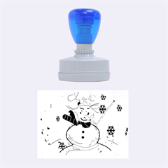 Snowman Rubber Oval Stamps by Valentinaart
