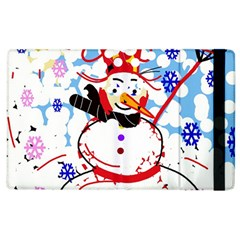 Snowman Apple Ipad 2 Flip Case by Valentinaart