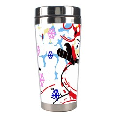 Snowman Stainless Steel Travel Tumblers by Valentinaart