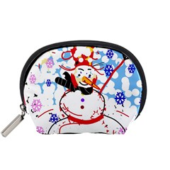 Snowman Accessory Pouches (small)  by Valentinaart