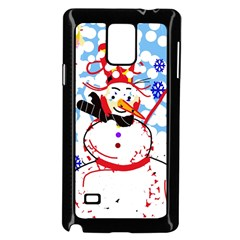 Snowman Samsung Galaxy Note 4 Case (black) by Valentinaart