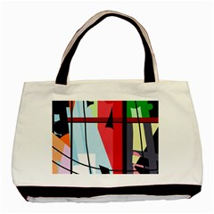 Window Basic Tote Bag (two Sides) by Valentinaart