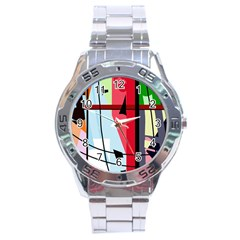 Window Stainless Steel Analogue Watch by Valentinaart