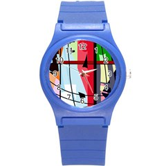 Window Round Plastic Sport Watch (s)