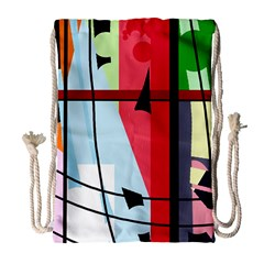 Window Drawstring Bag (large) by Valentinaart