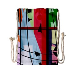 Window Drawstring Bag (small) by Valentinaart