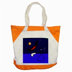 Night Duck Accent Tote Bag by Valentinaart