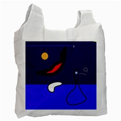 Night Duck Recycle Bag (one Side) by Valentinaart