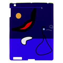 Night Duck Apple Ipad 3/4 Hardshell Case by Valentinaart