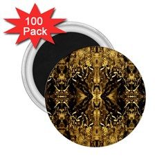 Beautiful Gold Brown Traditional Pattern 2 25  Magnets (100 Pack)  by Costasonlineshop