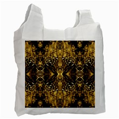 Beautiful Gold Brown Traditional Pattern Recycle Bag (two Side)  by Costasonlineshop