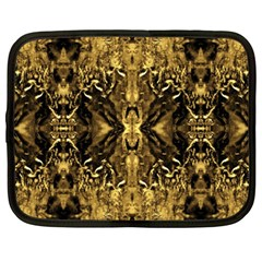 Beautiful Gold Brown Traditional Pattern Netbook Case (xxl)  by Costasonlineshop