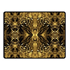 Beautiful Gold Brown Traditional Pattern Fleece Blanket (small) by Costasonlineshop
