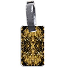 Beautiful Gold Brown Traditional Pattern Luggage Tags (one Side)  by Costasonlineshop