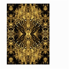 Beautiful Gold Brown Traditional Pattern Large Garden Flag (two Sides) by Costasonlineshop
