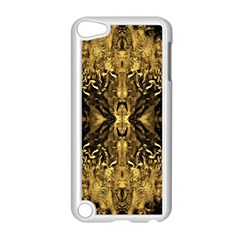 Beautiful Gold Brown Traditional Pattern Apple Ipod Touch 5 Case (white) by Costasonlineshop