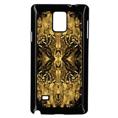 Beautiful Gold Brown Traditional Pattern Samsung Galaxy Note 4 Case (black) by Costasonlineshop