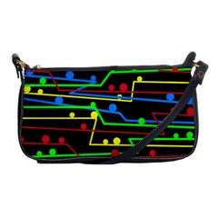 Stay In Line Shoulder Clutch Bags by Valentinaart