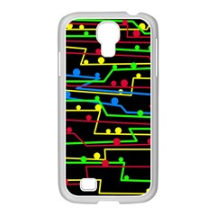 Stay In Line Samsung Galaxy S4 I9500/ I9505 Case (white) by Valentinaart