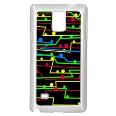 Stay In Line Samsung Galaxy Note 4 Case (white) by Valentinaart