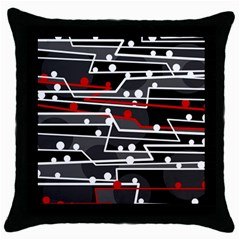 Stay In Line Throw Pillow Case (black) by Valentinaart
