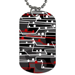 Stay In Line Dog Tag (one Side) by Valentinaart