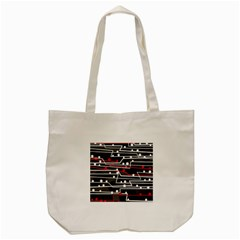 Stay In Line Tote Bag (cream) by Valentinaart