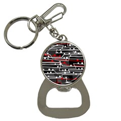 Stay In Line Bottle Opener Key Chains by Valentinaart