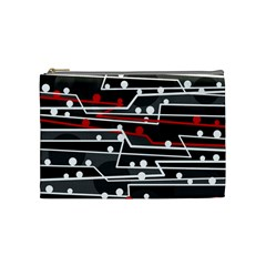 Stay In Line Cosmetic Bag (medium)  by Valentinaart