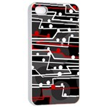 Stay in line Apple iPhone 4/4s Seamless Case (White) Front