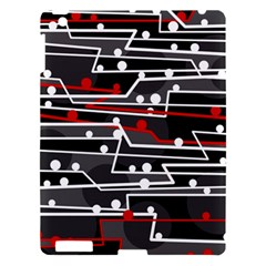 Stay In Line Apple Ipad 3/4 Hardshell Case by Valentinaart