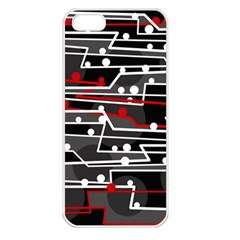 Stay In Line Apple Iphone 5 Seamless Case (white) by Valentinaart