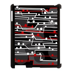 Stay In Line Apple Ipad 3/4 Case (black) by Valentinaart