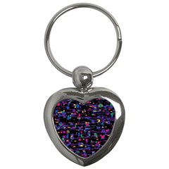 Purple Galaxy Key Chains (heart)  by Valentinaart
