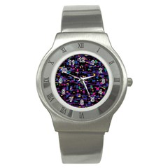 Purple Galaxy Stainless Steel Watch by Valentinaart