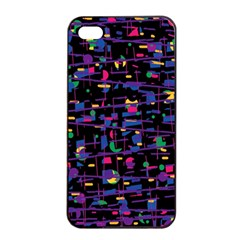 Purple Galaxy Apple Iphone 4/4s Seamless Case (black) by Valentinaart