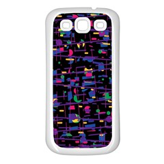 Purple Galaxy Samsung Galaxy S3 Back Case (white) by Valentinaart