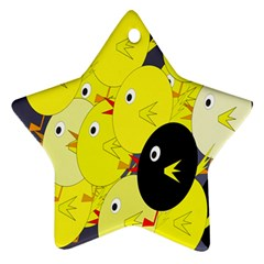 Yellow Flock Ornament (star)  by Valentinaart