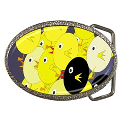 Yellow Flock Belt Buckles by Valentinaart