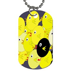 Yellow Flock Dog Tag (two Sides) by Valentinaart