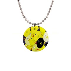 Yellow Flock Button Necklaces by Valentinaart