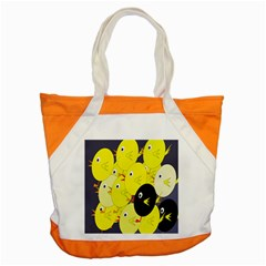 Yellow Flock Accent Tote Bag by Valentinaart