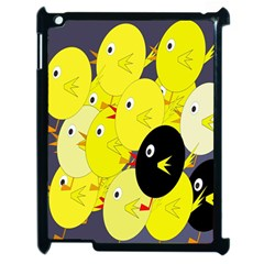 Yellow Flock Apple Ipad 2 Case (black) by Valentinaart